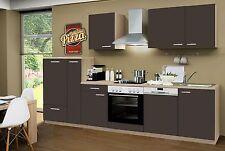 Küchenzeile Classic Lava CF 310cm,Sonoma ,incl.E-Geräte,Geschirrspüler, Ceran