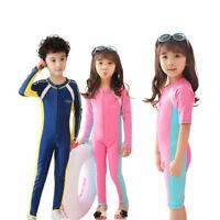 Kids Diving Suit Anti UV Full Body Surfing Swimwear Short/Long Sleeve Wetsuit