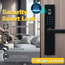 Smart Digital Electronic Door Lock Fingerprint Touchscreen  Password Key APP