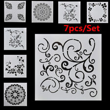 7Pcs Craft Embossing Template Wall Painting Layering Stencils Scrapbooking