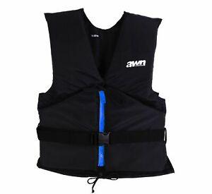 AWN black edition Regattaweste Schwimmweste Auftriebshilfe Weste 30-120 kg