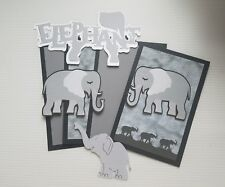 Animal kingdom Elephant  scrapbook page set photo mats and die cuts set #1