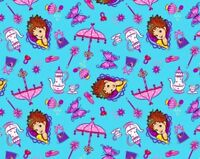 DISNEY FABRIC FANCY NANCY FANCY THINGS TEA TIME 100% COTTON QUILTING BY THE YARD