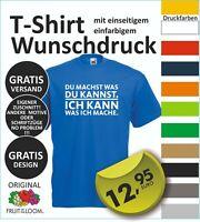 FUN T Shirt  Wunschdruck Logo Wunschtext, entwerfen lassen  oder dieses S-5XL #1