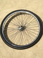 3B Schwinn Tandem Twinn Twin S-7 Rear Single Speed Rim Chrome HD spokes Wheel