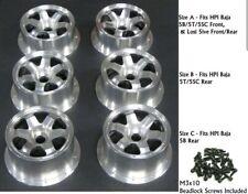 "DDM ""BILLET SIX"" Aluminum Billet Wheelsfor HPI Baja 5B Rear (size c)"