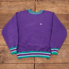 "Mens Vintage RARE Champion Reverse Weave Purple Jumper Sweatshirt M 38"" R5321"