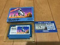 MACH RIDER Japan Famicom NES BOX and Manual