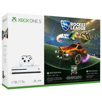 Microsoft 234-00370 Xbox One S 1TB White Rocket League Bundle