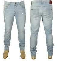 Only & Sons Mens Ripped Stretch Slim Fit Denim Jeans Light Blue Pants 30-36