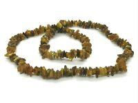 """AMBER NECKLACE 65cm 25,59"""" Natural Baltic Amber Polished Beads Ladies 29,8g 9396"""