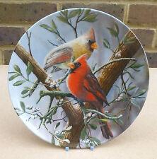 KNOWLES Encyclopedia Britannica Birds of Your Garden Plate - The Cardinal