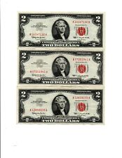 3-1963 $ 2.00  RED SEAL UNITED STATES NOTES,  OLD U.S. CURRENCY,       lot (i)