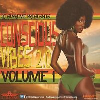 CONSCIOUS VIBES VOL 1  REGGAE ROOTS CULTURE LOVERS ROCK MIX CD