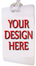 QTY 25  LUGGAGE TAGS CUSTOM PERSONALIZED  WITH ARTWORK FOR YOUR EVENT OR GROUP