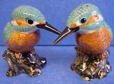 QUAIL CERAMIC KINGFISHER BIRD OF PREY SALT & PEPPER POTS CONDIMENT OR CRUET SET