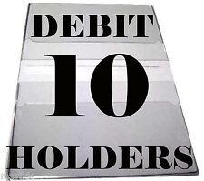 Debit Card Holders Clear Vinyl Cover 4 Pockets - Set of 10