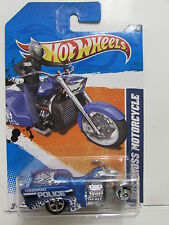 HOT WHEELS 2011 MAIN STREET BOSS HOSS MOTORCYCLE BLUE