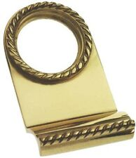 Solid Polished Brass Georgian Yale Lock Surround / Door Pull (PB101)