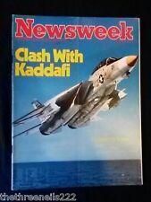 NEWSWEEK - CLASH WITH KADDAFI - AUG 31 1981