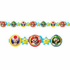 8ft Super Mario Bros Gaming Birthday Party Decoration Die-Cut Paper Garland