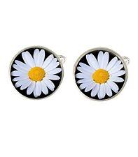 Daisy Flower Mens Cufflinks Ideal Wedding Birthday Fathers Day Gift C433