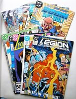 Lot of 10 Vintage Comics, Legion of Super-Heroes, Legionnaires3, Wonder Woman, +