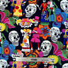 Alexander Henry LOS NOVIOS Black Day Of the Dead Fabric by Yard Sugar Skulls