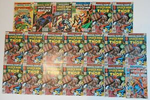 Marvel Team Up 44 to 105 Lot of 38 Spiderman Warlock Black Widow Shang Chi X-Men