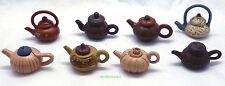 Miniature Ceramic Tea Pots Eight Handmade Cute looking collectibles