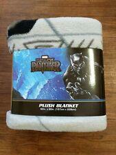 "Marvel Black Panther Super Hero Soft Plush Blanket 62"" x 90"" NEW"