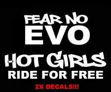 Fear No Evo Hot Girls Ride Subaru evo sti jdm drift slammed car decals stickers