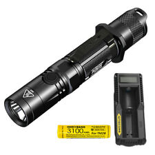 NITECORE P12GTS 1800 lm LED Tactical Flashlight + Rechargeable Battery & Charger