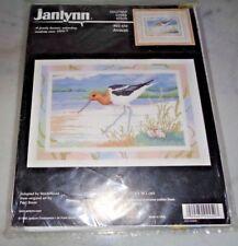 New janlynn AVOCET Counted Cross Stitch Kit