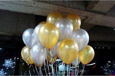"3 x Gold Latex Balloons up to 11"" Wedding Birthday Party Christmas Decor Balloon"