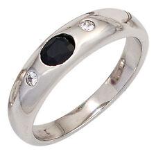 Echte Edelstein-Ringe aus Sterlingsilber mit Saphir für Damen