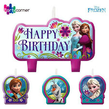 FROZEN BIRTHDAY PARTY SUPPLIES CANDLE MINI MOULDED PACK OF 4