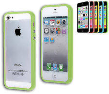 BUMPER COVER CASE FLIP COMPATIBILE IPHONE 5 BOTTONI ARGENTATI VERDE