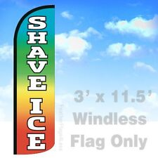 Flag Only 3' Windless Swooper Feather Banner Sign - Shave Ice rainbow q