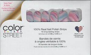 Color Street Nail Strips Cotton Candy Swirl 100% Nail Polish -USA Made!