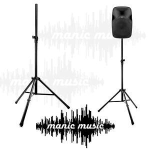 2x Speaker Stand Tripod Base Metal Joint 2m 80kg Pair Heavy Duty Steel  PA DJ