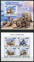 Malediven Maldive 2013 Robben Seals Meeressäugetiere Postfrisch MNH
