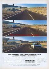 Daihatsu Charade Car 1988 Magazine Advert #1059