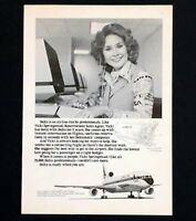 1977 Delta Airline Advertisement Sales Agent Computer Monitor Vintage Print AD