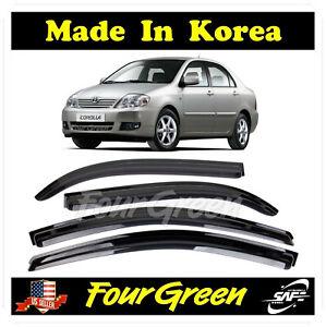 Smoke Window Sun Vent Visor Rain Guards 4-PCS for Toyota 2001-2006 Corolla