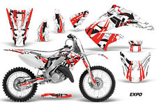 Dirt Bike Graphics Kit Decal Wrap For Honda CR125R CR250R 2002-2008 EXPO RED