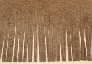 (1m/3,33€)3 m Kunst-Wild-Leder Fransen Borte Band 60 mm braun