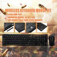2.4GHz Wireless Gaming Keyboard And 1600DPI Mouse Combo Set for PC Laptop  UU