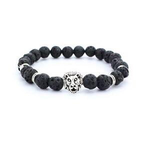 Unisex 7 Chakra Beaded Bracelet Lava Yoga Reiki Prayer Stone Fashion Jewelry
