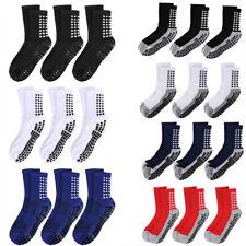 3 Pair Sport Socks Anti Slip W/Grip Soccer Men Football Basketball Sock Premium